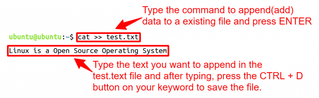 append data to a existing file