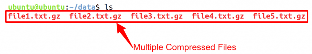 Multiple Compressed Files