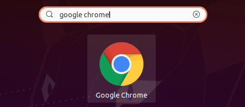 Search for Google Chrome